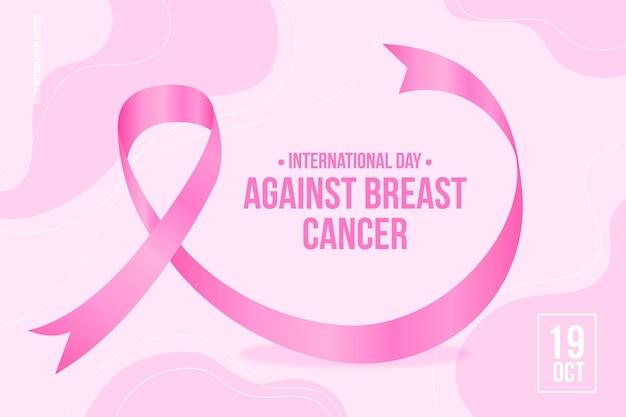 Realistische internationale dag tegen de achtergrond van borstkanker