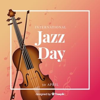 Realistische internationale jazz-dag achtergrond