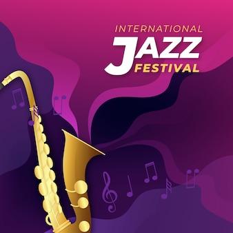 Realistische internationale jazzdag achtergrond