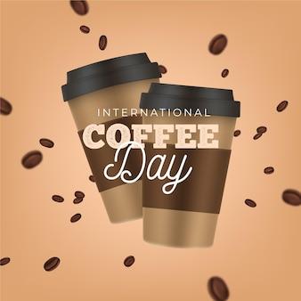 Realistische internationale koffiedag