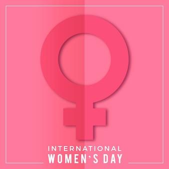Realistische internationale vrouwendag illustratie met vrouwelijk symbool