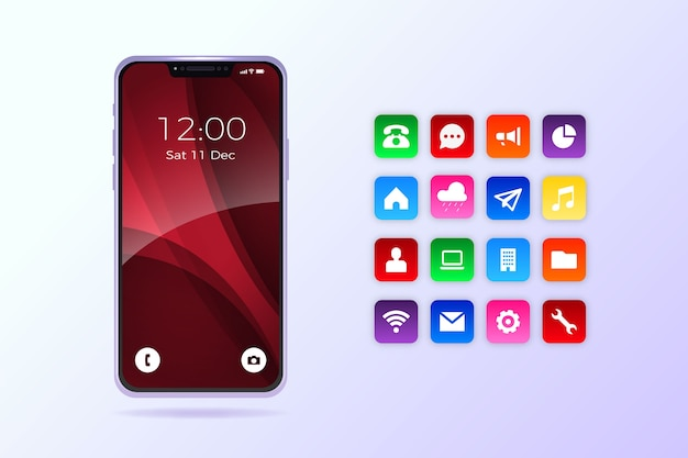 Realistische iphone 11 met apps