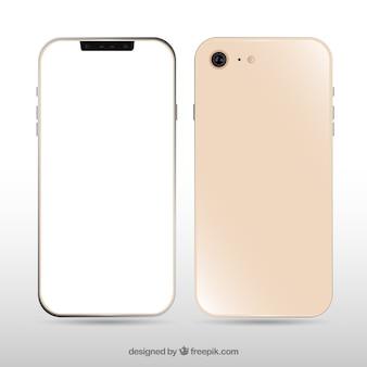 Realistische iphone x met wit scherm