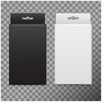 Realistische kartonnen boxset. pakket voor software, elektronisch apparaat en andere producten