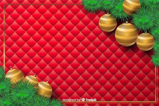 Realistische kerst achtergrond