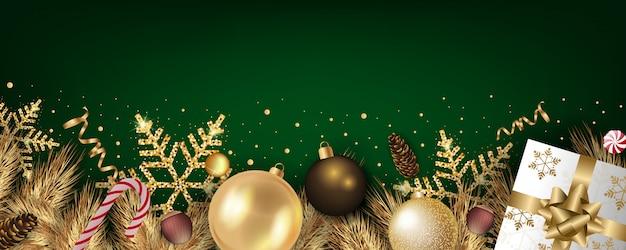 Realistische kerst banner achtergrond