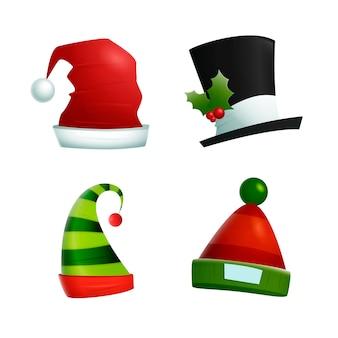 Realistische kerst karakter hoeden