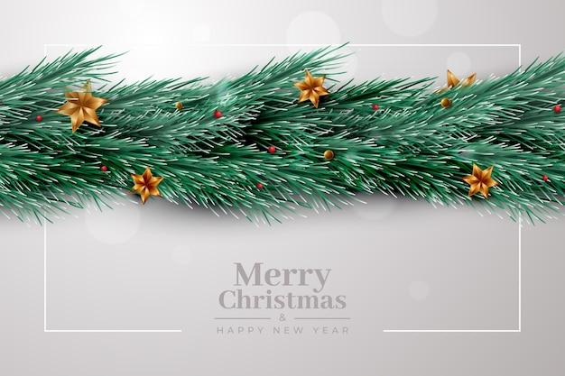 Realistische kerst klatergoud achtergrond