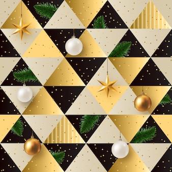 Realistische kerst naadloze patroon
