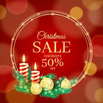 Realistische kerst speciale verkoop
