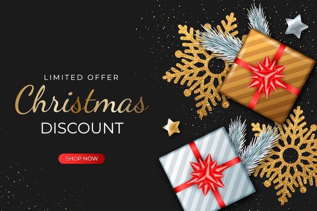 Realistische kerst verkoop concept