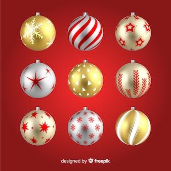Realistische kerstballen instellen