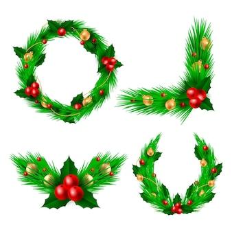 Realistische kerstbloem & kranscollectie
