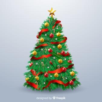 Realistische kerstboom achtergrond