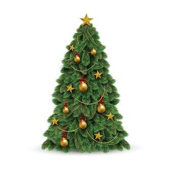 Realistische kerstboom illustratie
