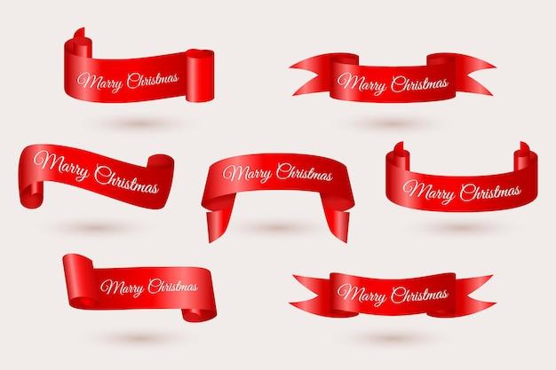 Realistische kerstlint collectie