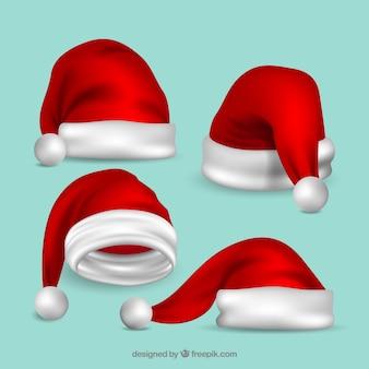 Realistische kerstman hoedpak