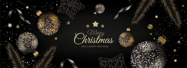 Realistische kerstmisachtergrond in elegante stijl