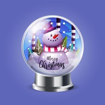 Realistische kerstmissneeuwbalbol