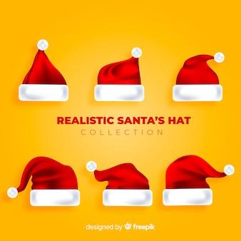 Realistische kerstmuts set