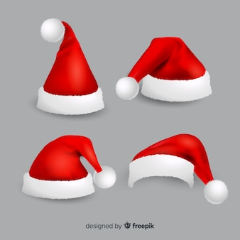 Realistische kerstmutsencollectie