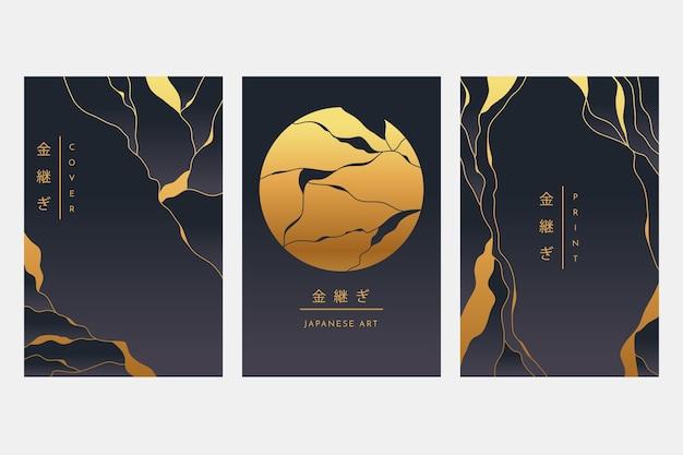 Realistische kintsugi-omslagcollectie