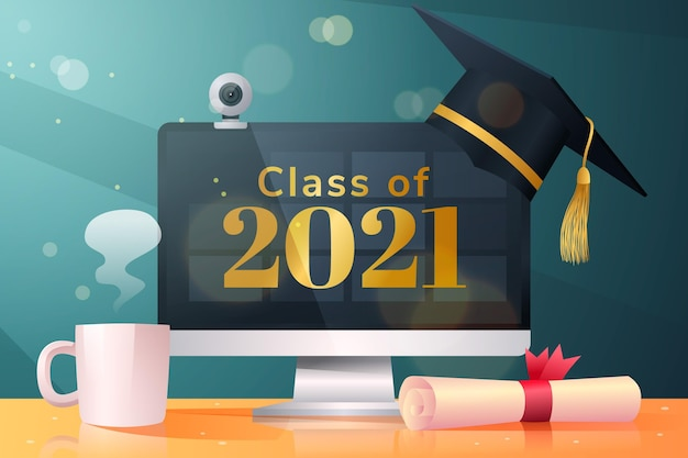 Realistische klasse van 2021-achtergrond