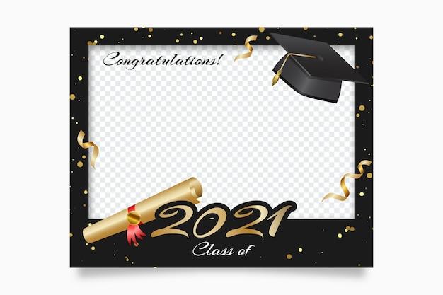 Realistische klasse van 2021-kadersjabloon