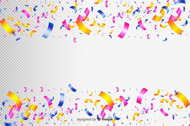 Realistische kleurrijke confetti achtergrond