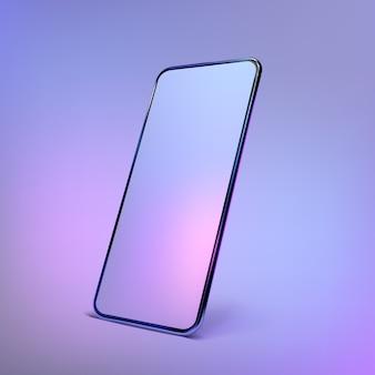 Realistische kleurrijke smartphoneillustratie