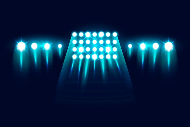 Realistische knipperende stadionlichten