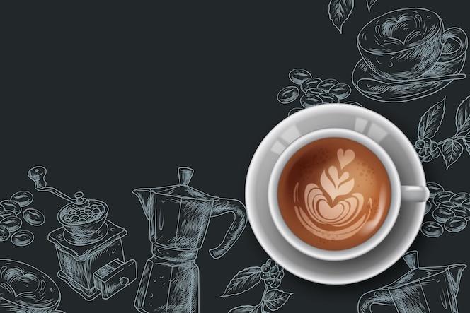 Realistische koffie achtergrond