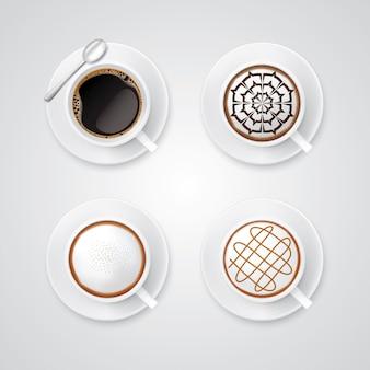 Realistische koffiekop vorm espressomachine