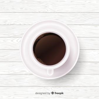 Realistische koffiekopje achtergrond