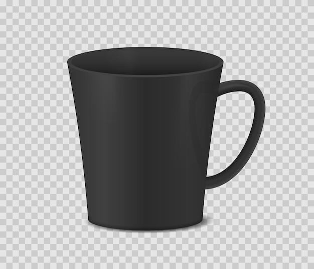 Realistische koffiemok op transparante achtergrond