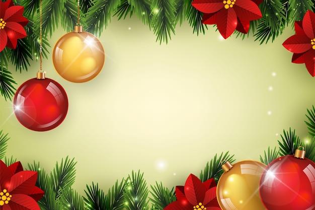 Realistische kopie ruimte kerstmis achtergrond