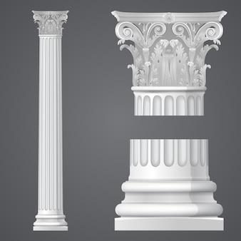 Realistische korinthische kolom