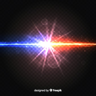 Realistische krachten crashen lichteffect