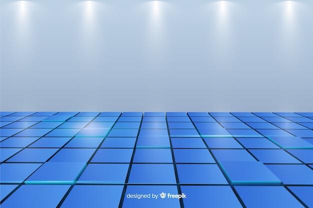 Realistische kubussen vloer achtergrond