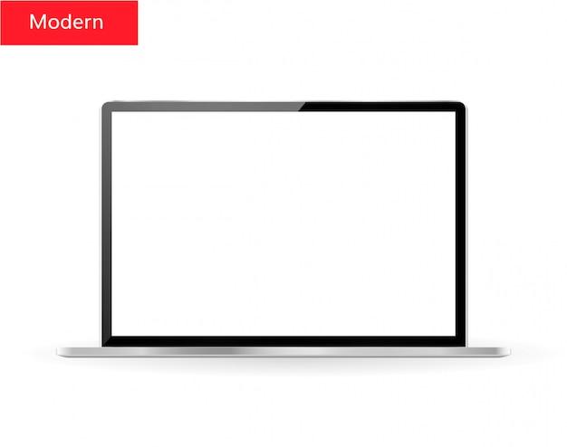Realistische laptop met een leeg scherm
