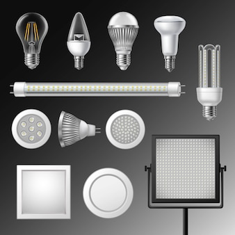 Realistische led-lampen set