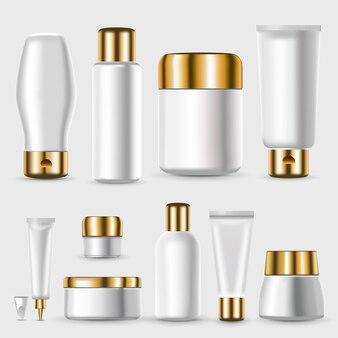 Realistische lege plastic pakketten-collectie