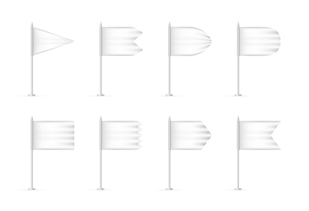 Realistische lege vlaggen.