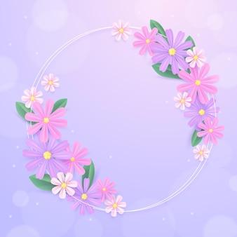 Realistische lente bloemen frame