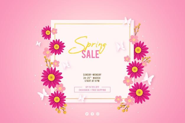 Realistische lente verkoop illustratie
