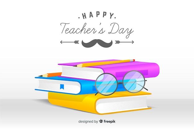 Realistische leraren dag achtergrond