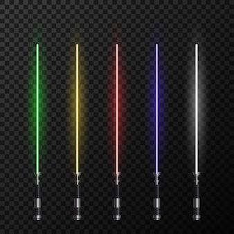 Realistische lichte zwaarden