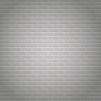 Realistische lichtgrijze bakstenen muur achtergrond.