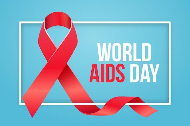 Realistische lint wereld aids dag