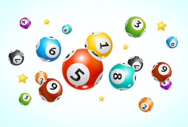Realistische lotto-ballen